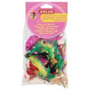 Zolux Zestaw 24 małych myszek dla kota [480412]