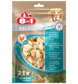8in1 Dental Delights Bones XS torebka 21szt
