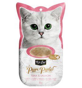 Kit Cat PurrPuree Tuna & Salmon 4x15g