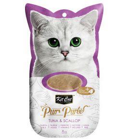 Kit Cat PurrPuree Tuna & Scallop 4x15g