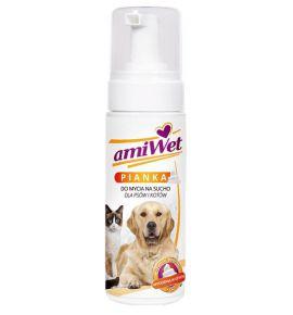 Amiwet Szampon piankowy (suchy) dla psów i kotów 150ml