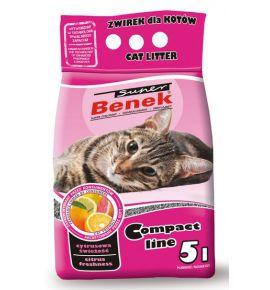 Super Benek Compact Zapachowy Cytrusowa Świeżość (różowy) 5L