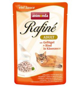 Animonda Rafiné Adult Drób + Wołowina w sosie serowym saszetka 100g