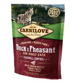 Carnilove Cat Duck & Pheasant Hairball Control - kaczka i bażant 400g