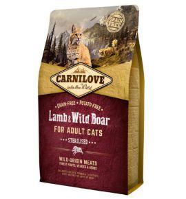 Carnilove Cat Lamb & Wild Boar Sterilised - jagnię i dzik 2kg