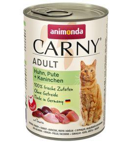 Animonda Carny Adult Kurczak, Indyk + Królik puszka 400g