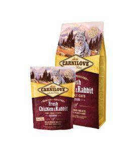 Carnilove Cat Fresh Chicken & Rabbit Gourmand - kurczak i królik 400g