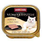 Animonda vom Feinsten Cat Adult Wołowina z Kurczakiem tacka 100g