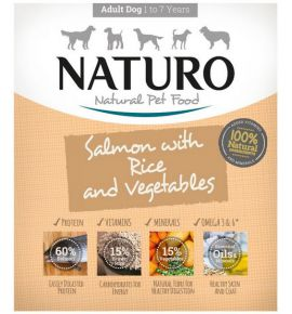 Naturo Adult Łosoś z ryżem i warzywami 400g