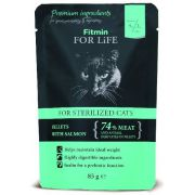 Fitmin Cat For Life Adult Sterilised Salmon saszetka 85g