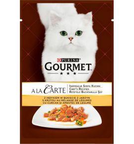 Gourmet a La Carte Indyk z warzywami saszetka 85g