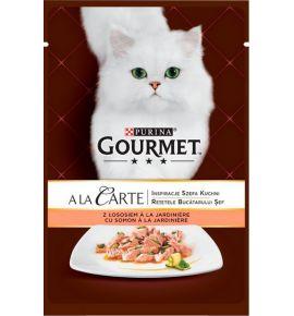 Gourmet a La Carte Łosoś z warzywami saszetka 85g