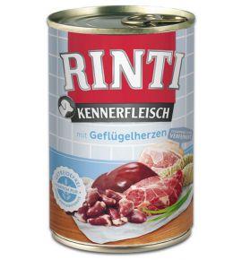 Rinti Kennerfleisch Geflugelherzen pies - serca drobiowe puszka 400g