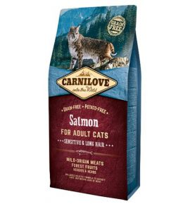 Carnilove Cat Salmon Sensitive & Long Hair - łosoś 6kg