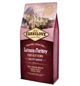 Carnilove Cat Salmon & Turkey for Kittens - łosoś i indyk 6kg