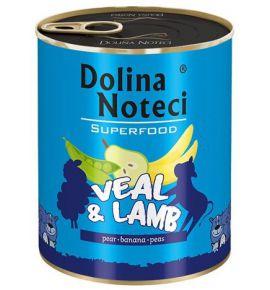 Dolina Noteci Premium Superfood Pies Cielęcina i jagnięcina puszka 800g