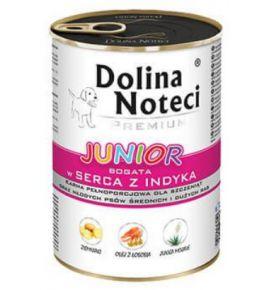 Dolina Noteci Premium Pies Junior Serca indyka puszka 400g