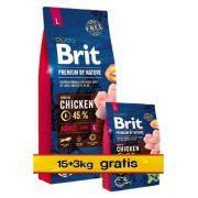 Brit Premium By Nature Adult L Large 18kg (15+3kg gratis)
