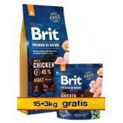 Brit Premium By Nature Adult M Medium 18kg (15+3kg gratis)