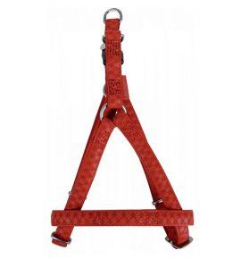 Zolux Szelki regulowane Mac Leather 10mm Czerwone [522050RO]