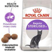 Royal Canin Sterilised karma sucha dla kotów dorosłych, sterylizowanych 12kg (10+2kg)