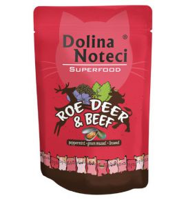 Dolina Noteci Superfood Kot Sarna i wołowina saszetka 85g