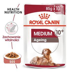 Royal Canin Medium Ageing 10+ karma mokra w sosie dla psów dojrzałych po 10 roku życia, ras średnich saszetka 140g