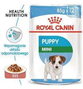 Royal Canin Mini Puppy karma mokra w sosie dla szczeniąt, od 2 do 10 miesiąca życia, ras małych saszetka 85g