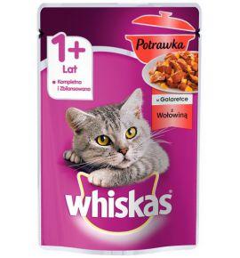 Whiskas Potrawka w galaretce z wołowiną saszetka 85g