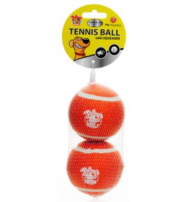 TENNIS BALL WITH SQUEAKER 2PAK LARGE